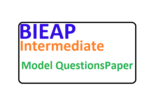 AP Inter Important Model Questions Paper 2020