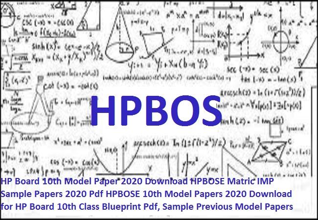 HP Board 10th Model Paper 2020