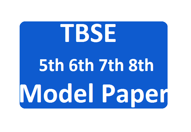 TBSE Board 5th, 6th, 7th, 8th, 9th Model Paper 2020 SA, FA Exam Question Paper