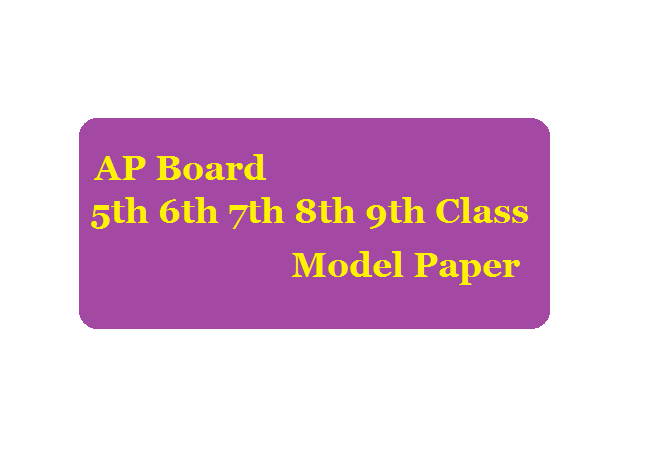 AP 6th to 9th Model Paper 2020 SA1 SA2 SA3 SA4 Telugu & English Medium
