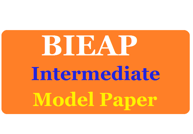 Manabadi AP Intermediate Model Paper 2020