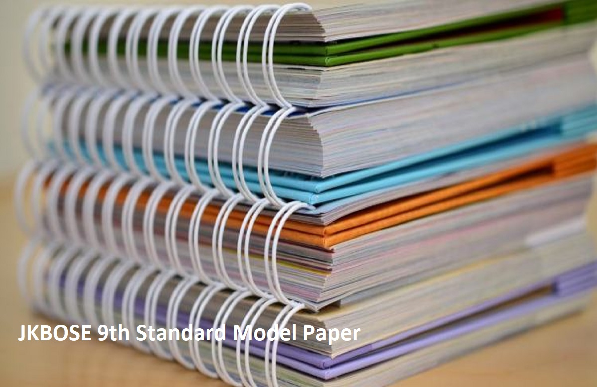 JKBOSE 9th Standard Model Paper 2020