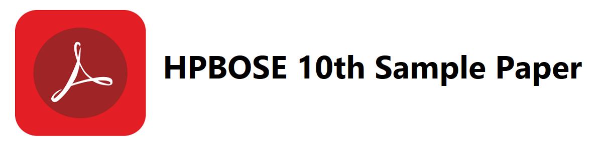 HPBOSE 10th Sample Paper 2020